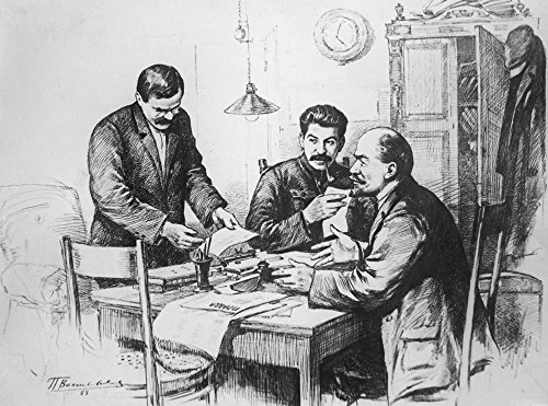 Vladimir Lenin (1870-1924) Nvladimir Ilich Ulyanov Known As Lenin Russian Communist Leader Vyacheslav Mikhailovich Molotov Joseph Stalin And Vladimir Lenin In The Editorial Offices Of The Newspaper Pr