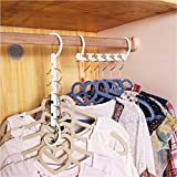8pcs Wonder Magic Hanger Coat Clothes Closet Organizers Hooks Laundry Supplies