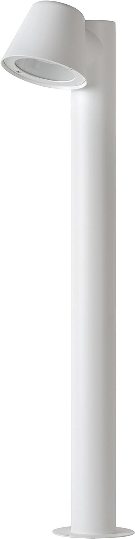 Lucide DINGO-LED - Pollerleuchte Außen - LED Dim. - GU10 - 1x5W 3000K - IP44 - Weiß White