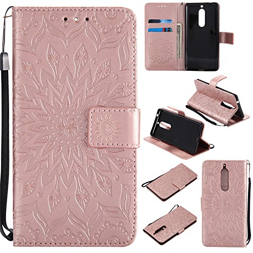 wholesale dealer ec7ad 9bbb1 Amazon.com: Nokia 5 Flip Case, Nutbro Nokia 5 Phone Cases, [Stand ...