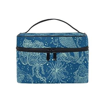 a74407ef8678 Amazon.com : Deep Sea Fantasy Mermaid Princess Travel Toiletry Bag ...