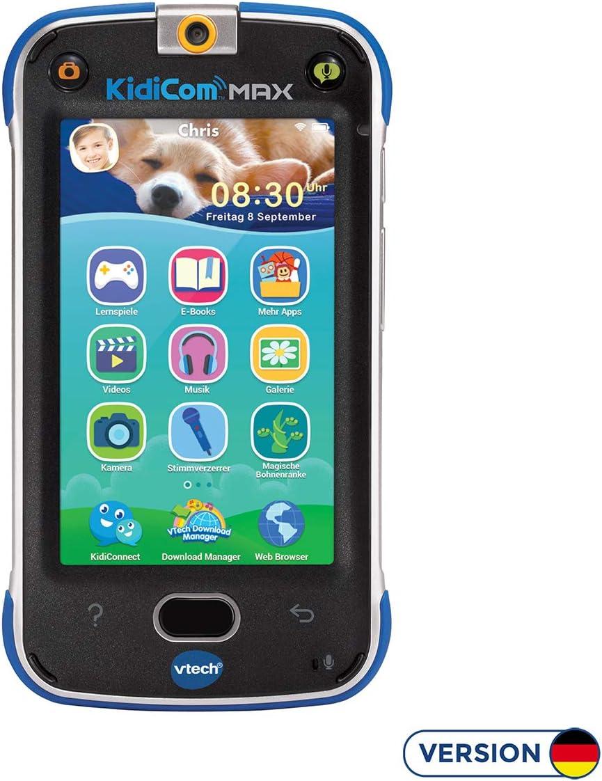 VTech - Dispositivo multifunción Kidicom MAX, Color Azul, versión Alemana