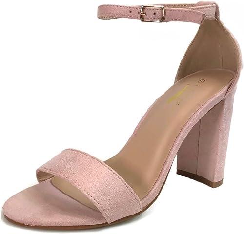 Glaze Women's Chunky Heel Ankle Strap