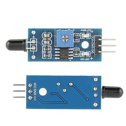Akozon 5pcs Detector llama Smartsense del módulo Sensor de la llama IR infrarroja para detectar la llama: Amazon.es: Industria, empresas y ciencia