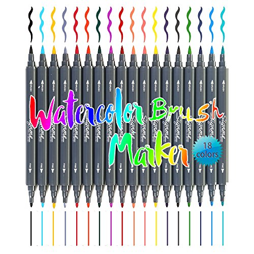 dual-tip-brush-markers-non-toxic-water-based-art-and-graphic-drawing-manga-sketch-pen-12-18-24-color