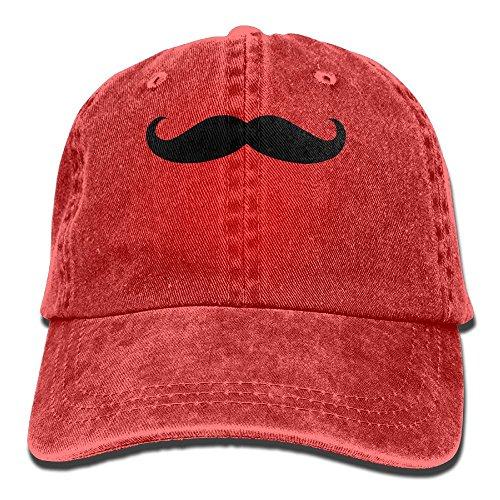Wons Adult Mustache Cotton Washed Denim Travel Caps