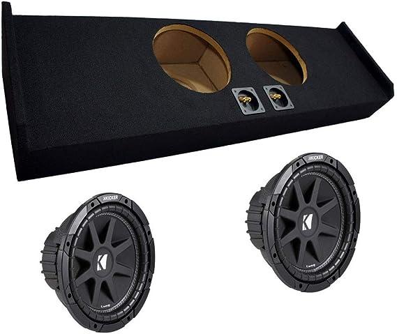 "Subwoofer Sub Box for 2015 Ford F150 Super Crew Cab Supercrew Truck Dual 12/"""