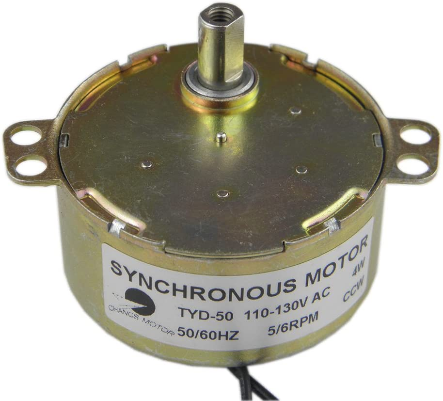 uxcell Metal Gear Synchronous Synchron Motor AC 100-127V 2-2.4RPM 50-60Hz CW 4W