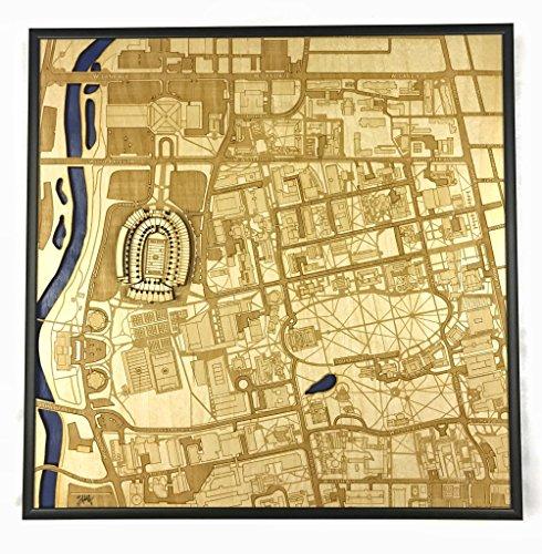 - Columbus, Ohio City Map by Stadium Map Art | Buckeyes Stadium Poster | Old Yankees Stadium 3D | Sports Decor with 3D Stadium Art