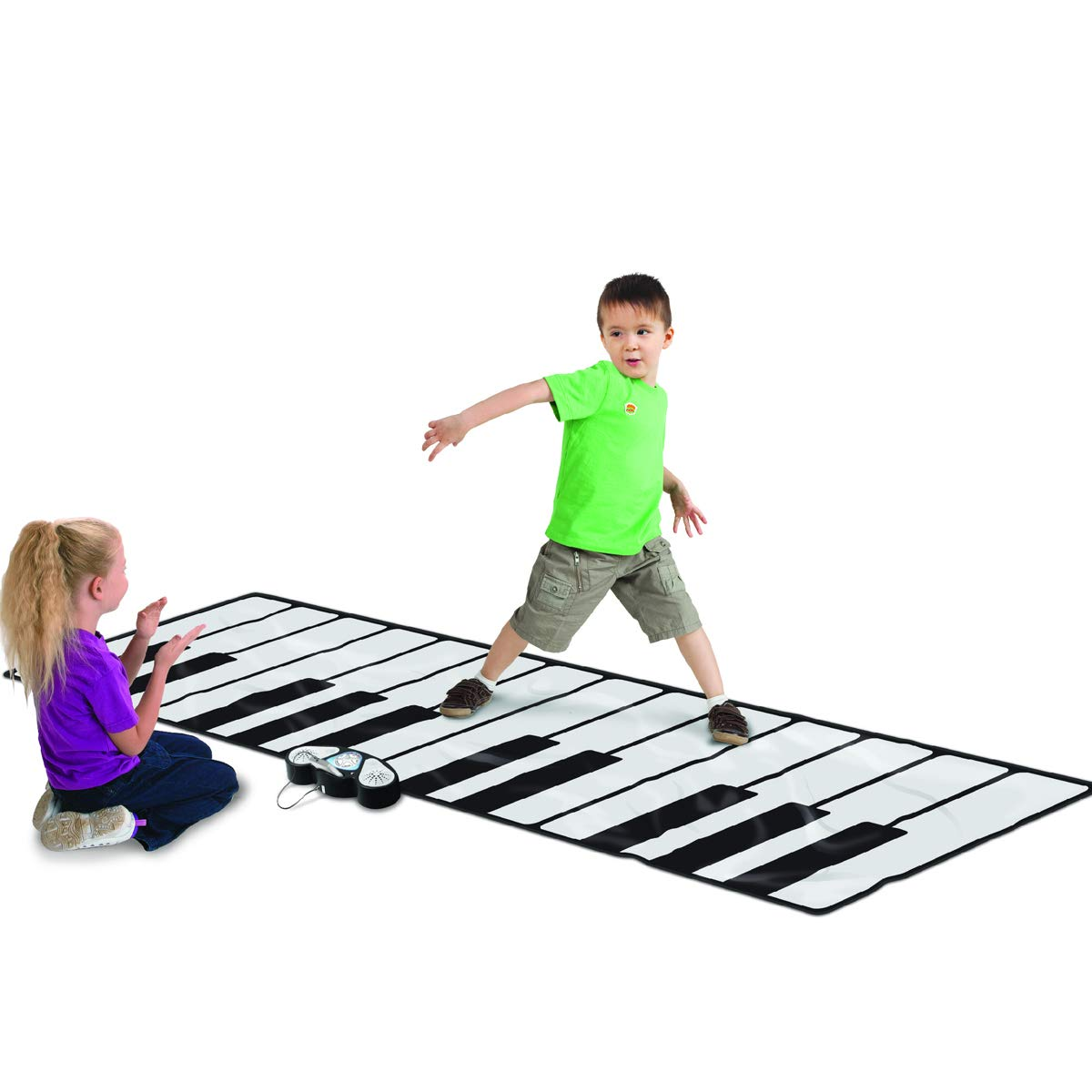 Costzon Giant Keyboard Playmat, 24 Keys Piano Play Mat, Foldable Activity Mat w/ 9 Selectable Musical Instruments, Play - Record - Playback - Demo - Tone Conversion Modes, Support MP3, Phone Play by Costzon (Image #5)