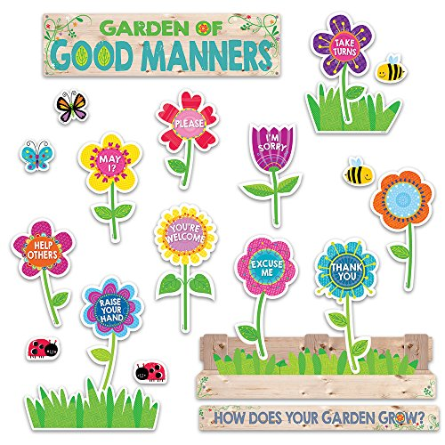 Creative Teaching Press Garden of Good Manners Mini Bulletin Board (6949) -