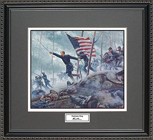 Mort Kunstler CHAMBERLAINS CHARGE Framed Wall Art Civil War Print, 18x16