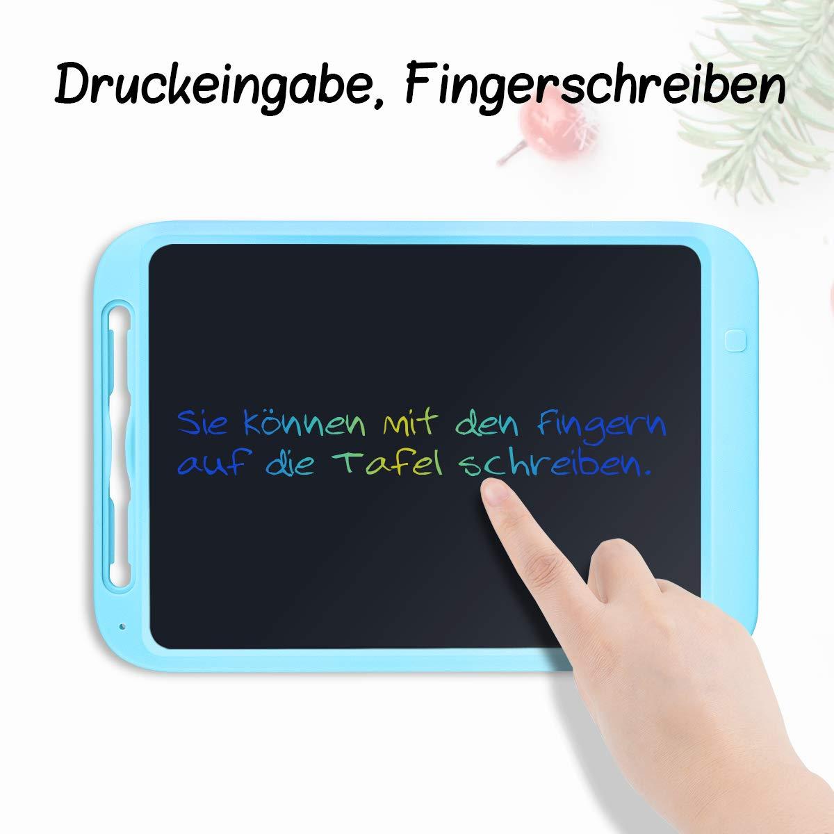 Funkprofi 12 Zoll LCD Schreibtafel Teilweise L/öschbares Writing Tablet mit Anti-Clearance Funktion und Dicke Linien,Grafiktabletts Schreibplatte Papierlos f/ür Schreiben Malen Notizen Schwarz