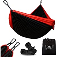 NATUREFUN Ultra-Light Travel Camping Hammock/Bug Net Hammock  300kg Load Capacity Different Sizes are Available Hammock Tree Straps   For Outdoor Indoor Garden
