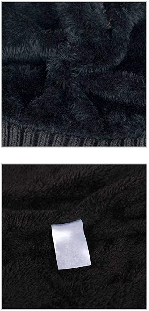Winter Beanie Hat Daily Men Cap Warm Thick Skull Hat Plush Lined for Autumn Winter Outdoor
