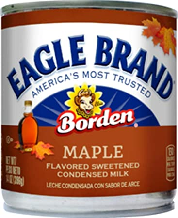 Borden Eagle Brand Maple Flavored Sweetened Condensed Milk 14 Oz. (Pack of 2)
