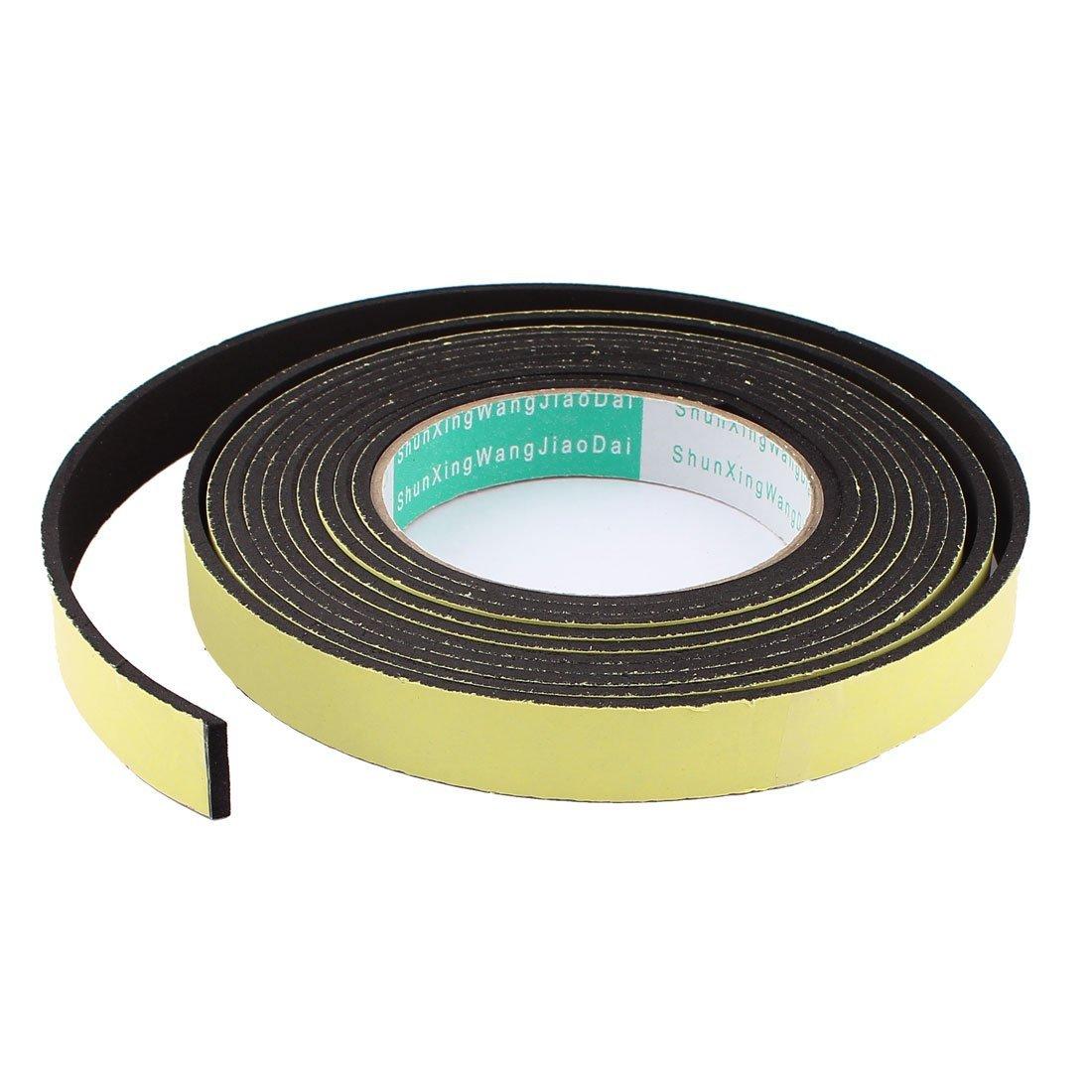 4M 18mm x 3mm Single Side Adhesive Foam Sealing Tape for Door Window DealMux DLM-B016VR6G2G