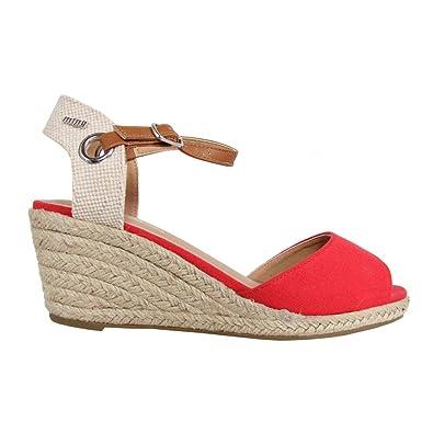MTNG 51846 Rojo - Chaussures Sandale Femme