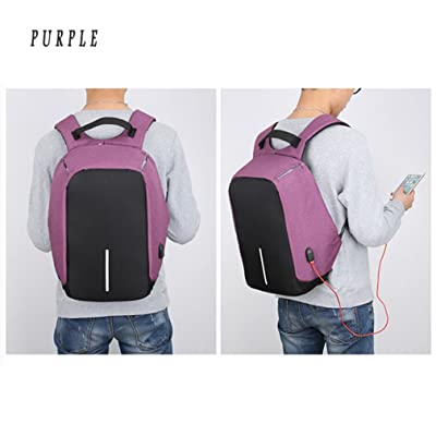 on sale TraveT Anti-theft Travel Backpack Business Laptop Backpack with USB Charging Port Lightweight Water-resistant Knapsack