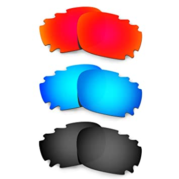 45631e2f2a HKUCO Mens Replacement Lenses For Oakley Jawbone Vented Sunglasses Red Blue Black  Polarized