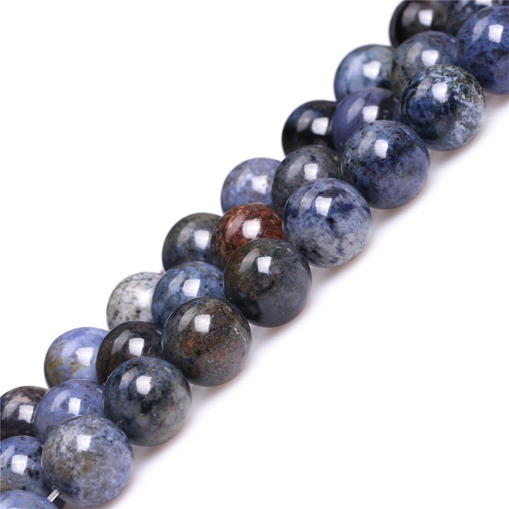Natural 10mm Round Blue Sunset Dumortierite Gemstone Semi Precious Beads for Jewelry Making 15