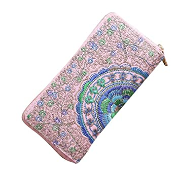 GENGXINLIN Moda Mujer Monedero Bordado Oxford Road Womens ...