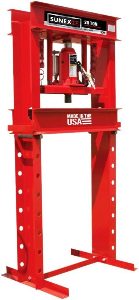 Sunex 5720AH Fully-Welded Air/Hydraulic Shop Press, 20 Tons