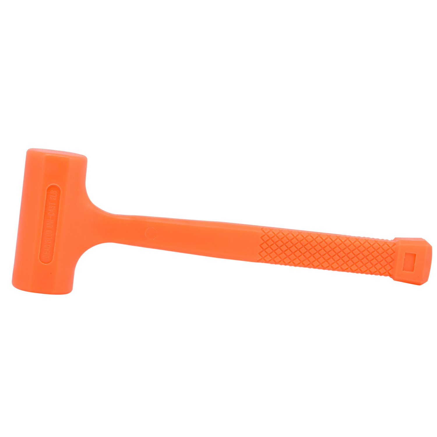 Neiko 02847A 2 LB Dead Blow Hammer, Neon Orange I Unibody Molded   Checkered Grip   Spark and Rebound Resistant by Neiko (Image #2)