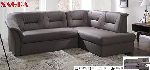 Sofá de esquina de piel
