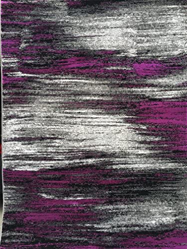 Trendz Modern Area Rug Contemporary Purple Grey And Black Design 863 8 Feet X 10 Feet
