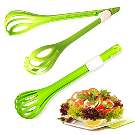 Behavetw Pinzas de Cocina Ensalada, Pan, Pastel, Abrazadera Antideslizante y fácil Agarre,