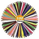 zippers for sewing bulk - 7 Inch (18cm) 100pcs Nylon Coil Zippers for Tailor Sewing Crafts Nylon Zippers Bulk 20 Colors (5pcs per color) (7