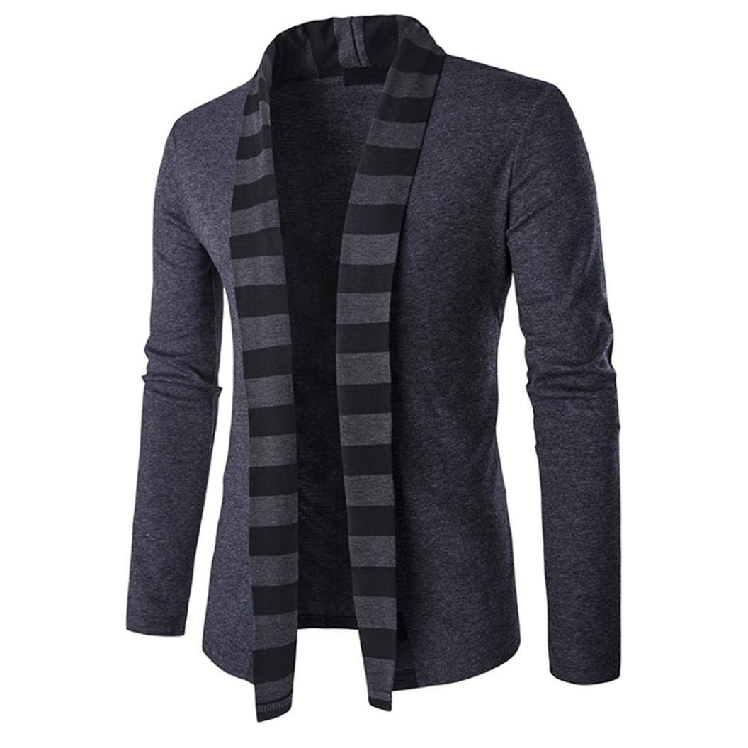 Sharemen Knit Cardigan Men Casual Slim Long Sleeve Sweater