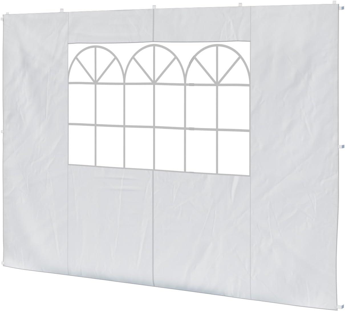 Colore: Bianco Panna Tenda Esagonale con 6 pareti Laterali SOULONG Gazebo Esagonale Pop-up Laterale 3,6 x 3,1 m