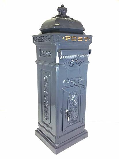 Buzón de correos/buzón independiente aluminio fundido caja de carta en gris