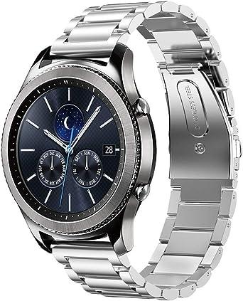 Amazon.com: Correa de reloj de acero inoxidable para Samsung ...