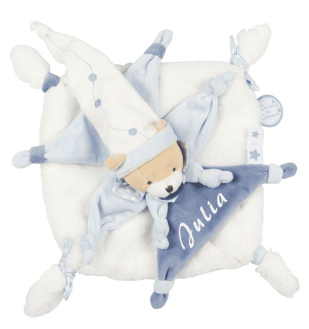 Doudou Ours petit chou à personnaliser avec le prénom de bébé - cadeau liste de naissance - cadeau personnalisé naissance - cadeau naissance bébé