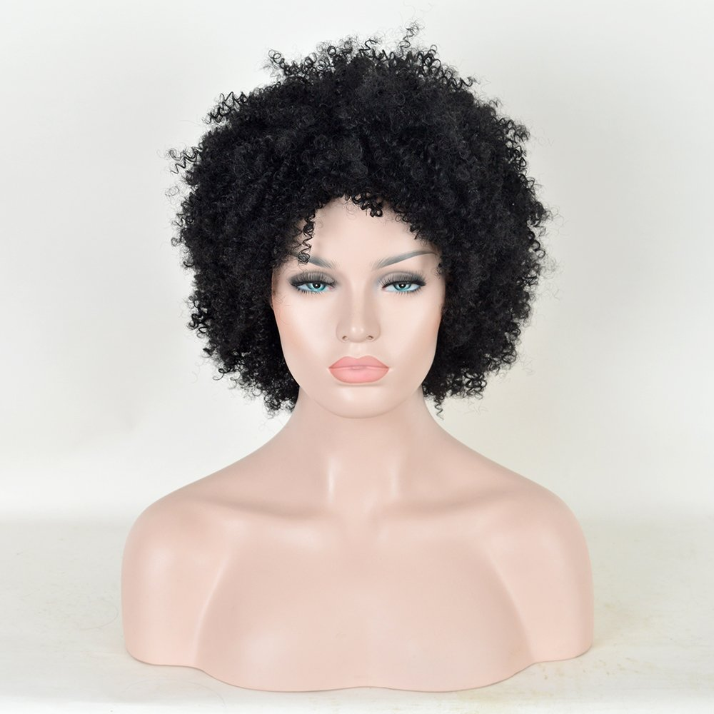 amazoncom sleek afro 5quot short curly wigs with 100