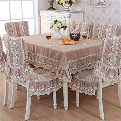042c9d6de4b Image Unavailable. Image not available for. Color  ZGHAFBES Fashion Top  Grade Dining Table Cloth Chair Covers ...