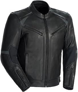 Tour Master Mens Nomad Leather Biker Vest Black Medium