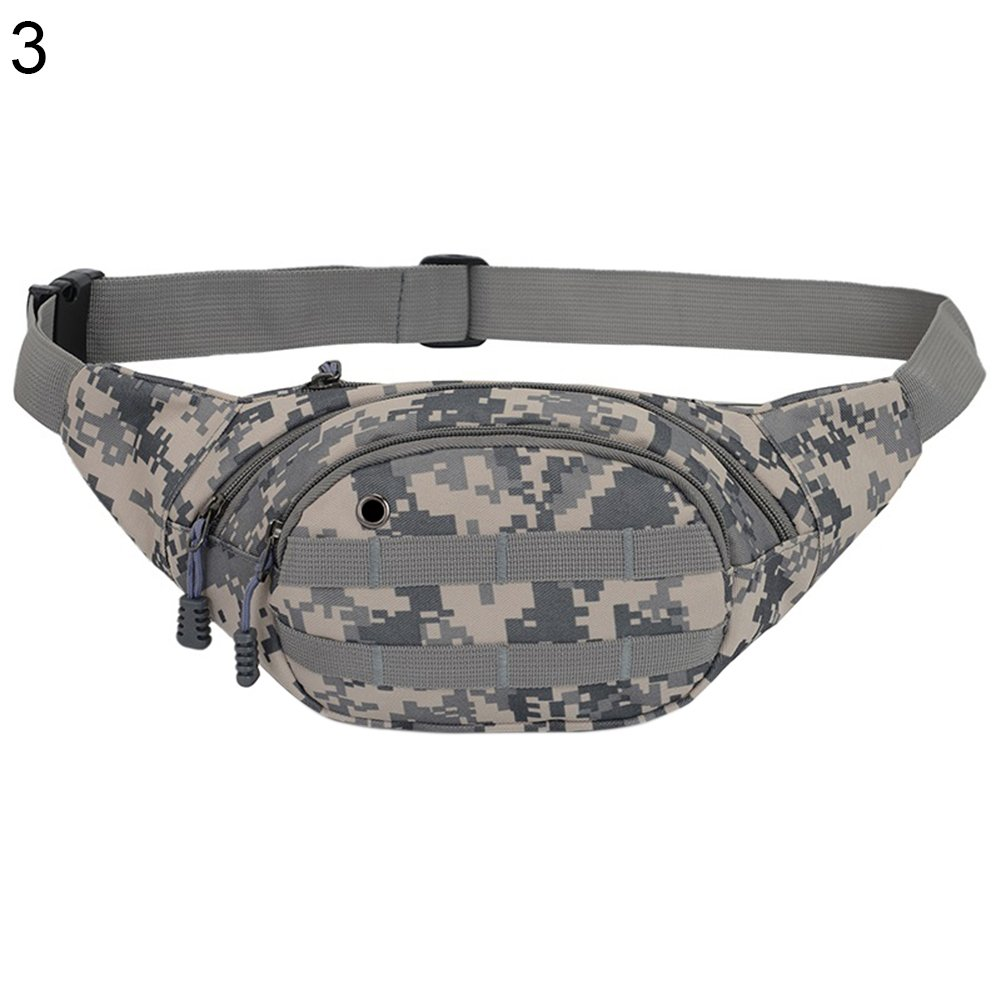 Waist Bag 3 Zip Pockets Travel Hiking Outdoor Sport Bum Bag Holiday Camouflage Money Hip Pouch 85%OFF