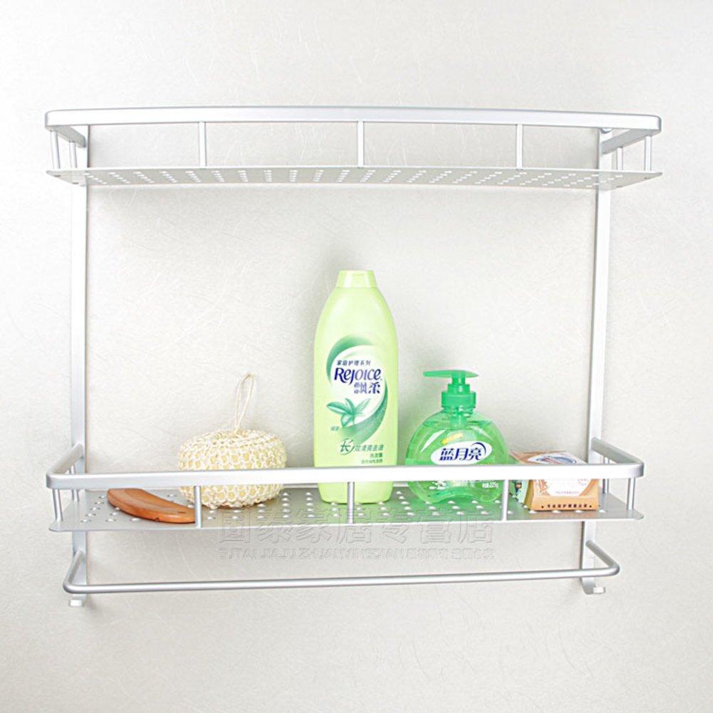 60%OFF Double space aluminium racks/Bathroom racks/Shelf of cosmetics-B