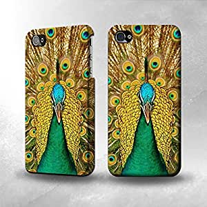 Apple iPhone 4 / 4S Case - The Best 3D Full Wrap iPhone Case - Peacock 1 by lolosakes