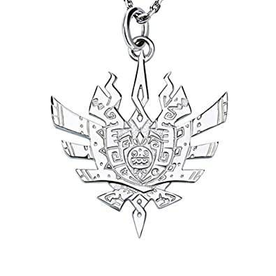 Wildforlife Monster Hunter 44u Logo Platinum Plated 925 Sterling
