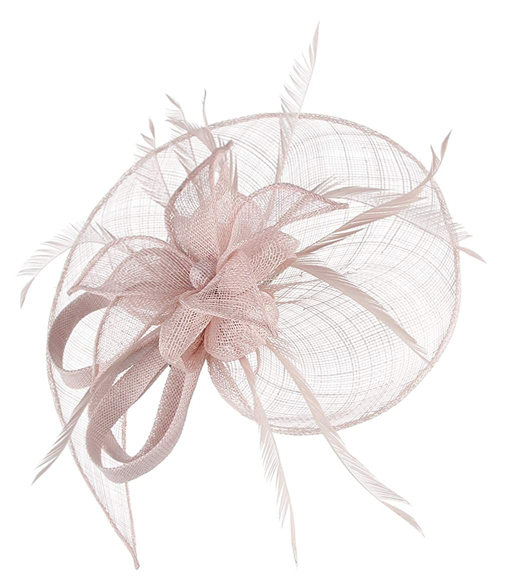 GEMVIE Damen Fascinators Hut Elegant Brauthut mit Feder Haar Clip Hut Tea Party Clip Haarschmuck