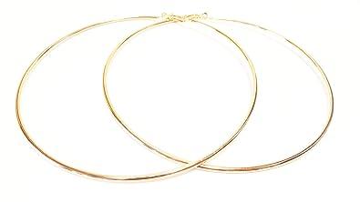 Amazon.com  Large Hoop Earrings 4 Inch Hoop Earrings Gold Tone Hoop ... d0fe9eddd9