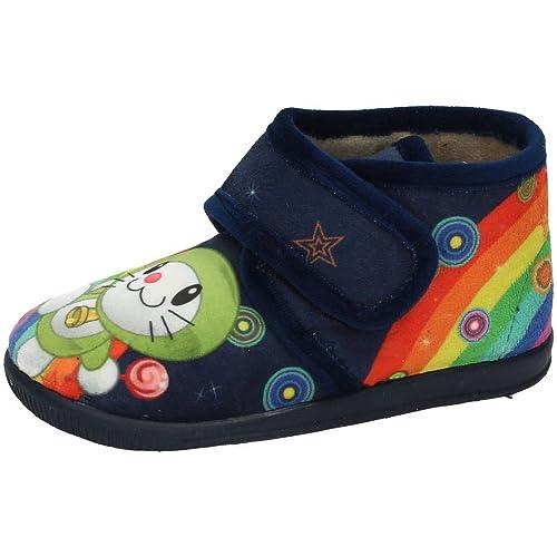 VULCA-BICHA 1087 Chinelas Zapatilla NIÑO Zapatillas CASA Azul Marino 18: Amazon.es: Zapatos y complementos