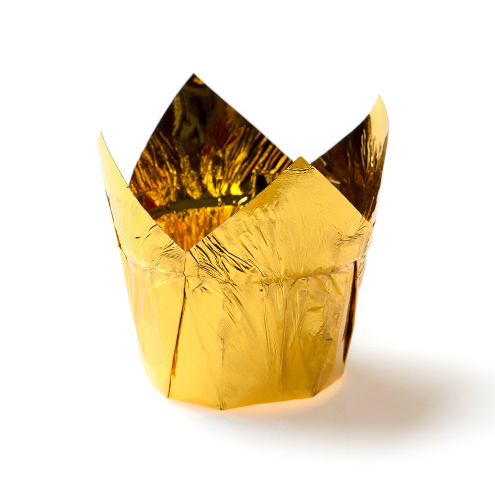 Petal Baking Cup, Tulip Style Baking Cup, Paper Baking Cup - Luxury Look Gold Color - 1.5 Inch, 1.2 Ounce - 200ct Box - Restaurantware by Restaurantware (Image #2)
