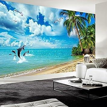 leegt 3d pintado Wall Paper Mural Custom Photo Papel para carteles ...