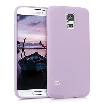 kwmobile Funda para Samsung Galaxy S5 / S5 Neo - Carcasa para móvil en [TPU Silicona] - Protector [Trasero] en [Violeta Mate]
